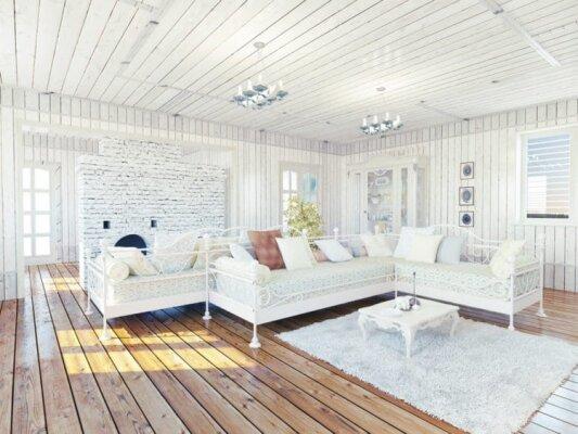 So wird ein Wohnzimmer im traditionellen Landhausstil gestaltet - So wird ein Wohnzimmer im traditionellen Landhausstil gestaltet