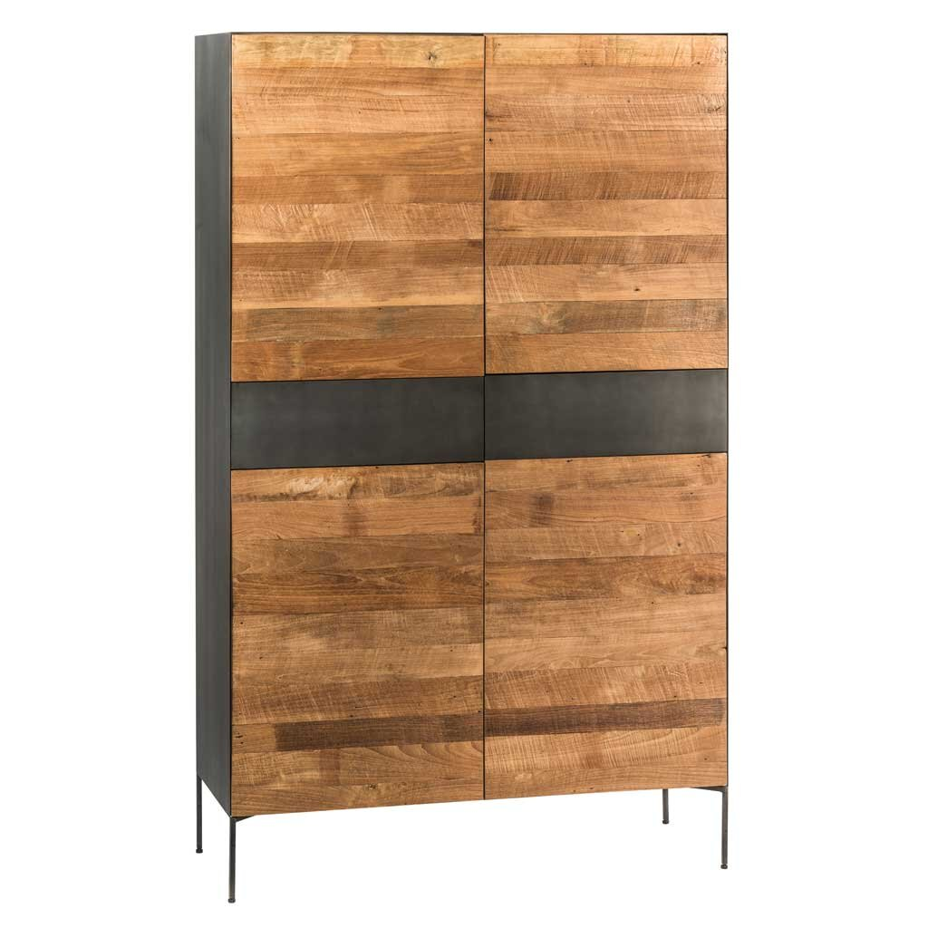 teak holz kleiderschrank jetzt online kaufen. Black Bedroom Furniture Sets. Home Design Ideas