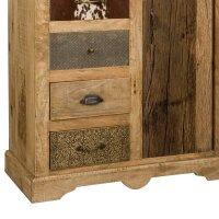 Hochkommode Vintage Altholz mit 6 Schubladen