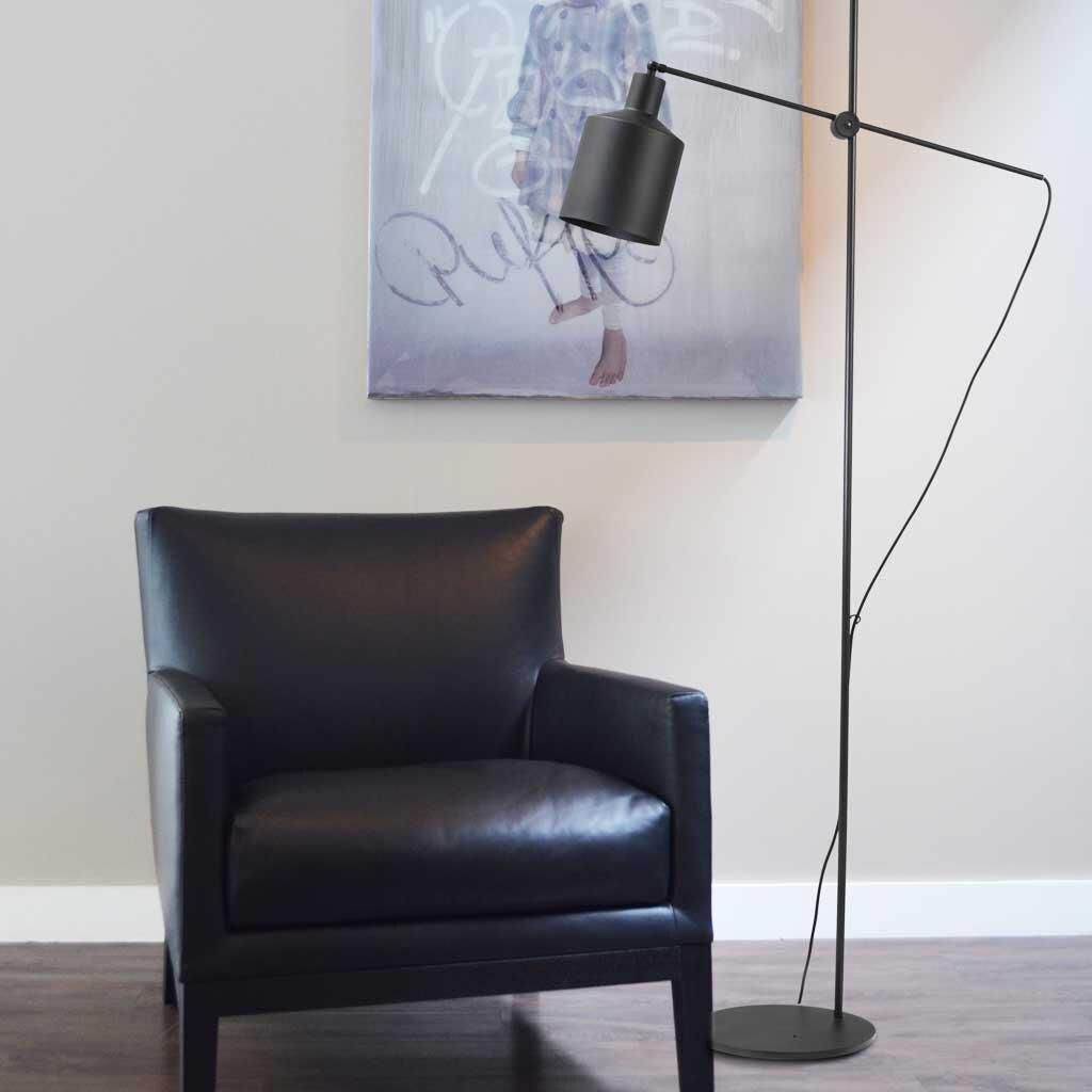 boris stehlampe schirm schwarz. Black Bedroom Furniture Sets. Home Design Ideas