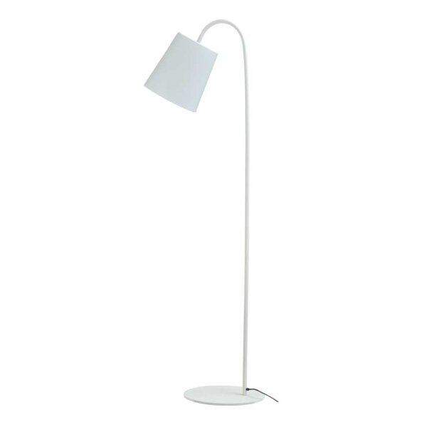 Bucket Stehlampe Schirm weiß
