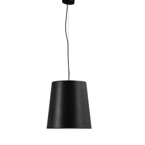Bucket Hängelampe mit Stange - Schirm schwarz