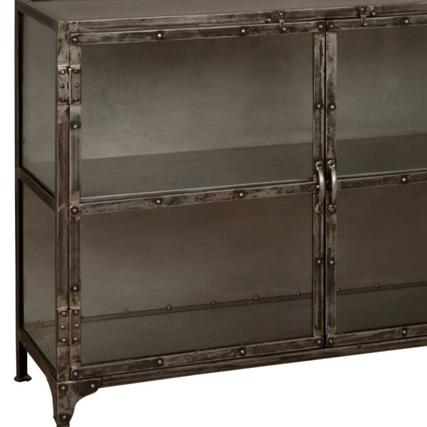 sideboard regal indira schwarz antik. Black Bedroom Furniture Sets. Home Design Ideas