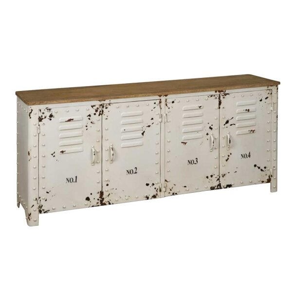 Sideboard Sally Shabby Metall weiss