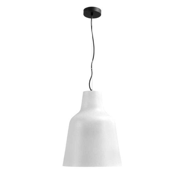 Camillo Hängelampe mit Stange Schirm weiß  XL Durchm. 33 cm