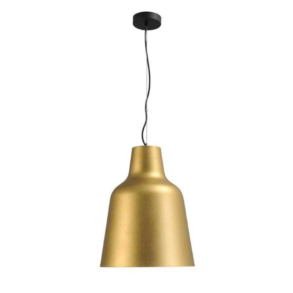 Camillo Hängelampe mit Stange Schirm gold  XL Durchm. 33 cm