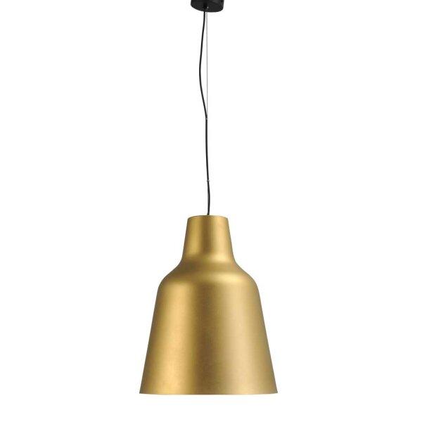 Camillo Hängelampe mit Stange Schirm gold XXL Durchm. 40 cm