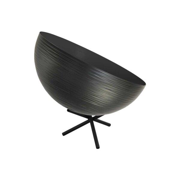 Tisch Metalllampe Casco 30 cm Durchmesser Schwarz
