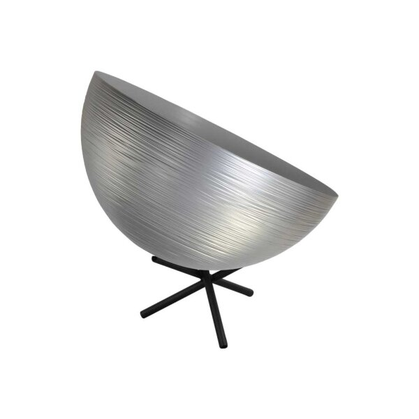 Tisch Metalllampe Casco 30 cm Durchmesser Silber