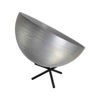 Tisch Metalllampe Casco 35 cm Durchmesser Silber