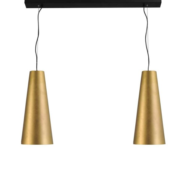 2er Hängelampe Cone gold