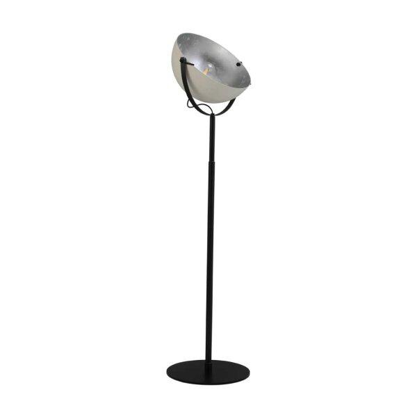 Larino Stehlampe Schirm weiss innen Blattsilber