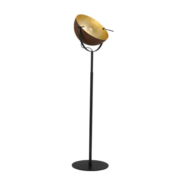 Larino Stehlampe Schirm rost innen Blattgold