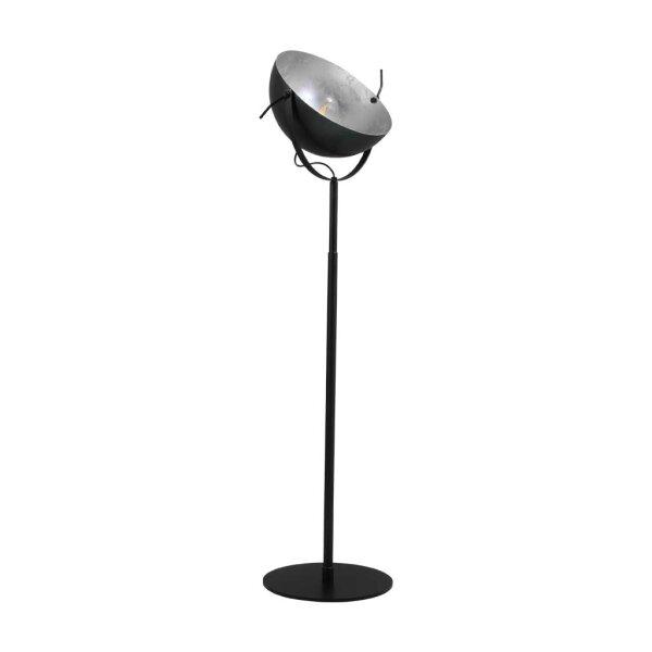 Larino Stehlampe Schirm gunmetal innen Blattsilber