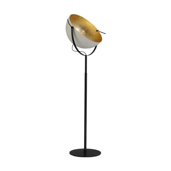 Larino Stehlampe XL Schirm weiss innen Blattgold