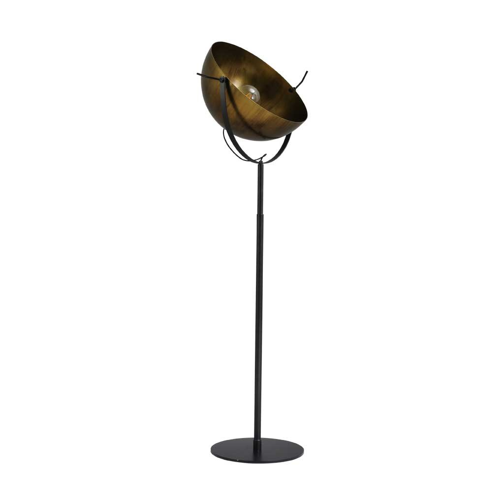 larino stehlampe xl schirm messing antik. Black Bedroom Furniture Sets. Home Design Ideas