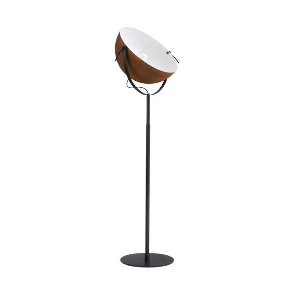 Larino Stehlampe XL Schirm rost innen weiss