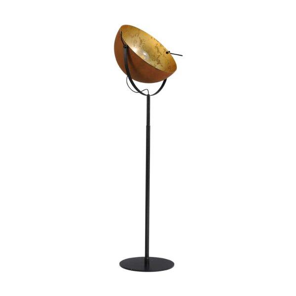 Larino Stehlampe XL Schirm rost innen Blattgold