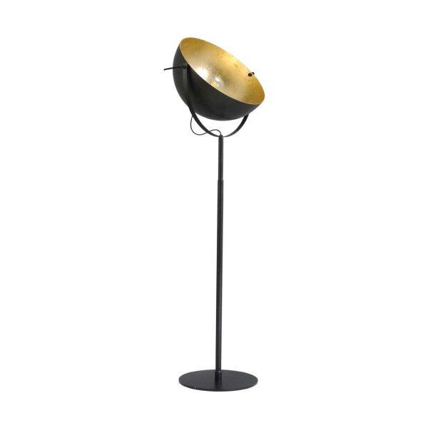 Larino Stehlampe XL Schirm gunmetal innen Blattgold