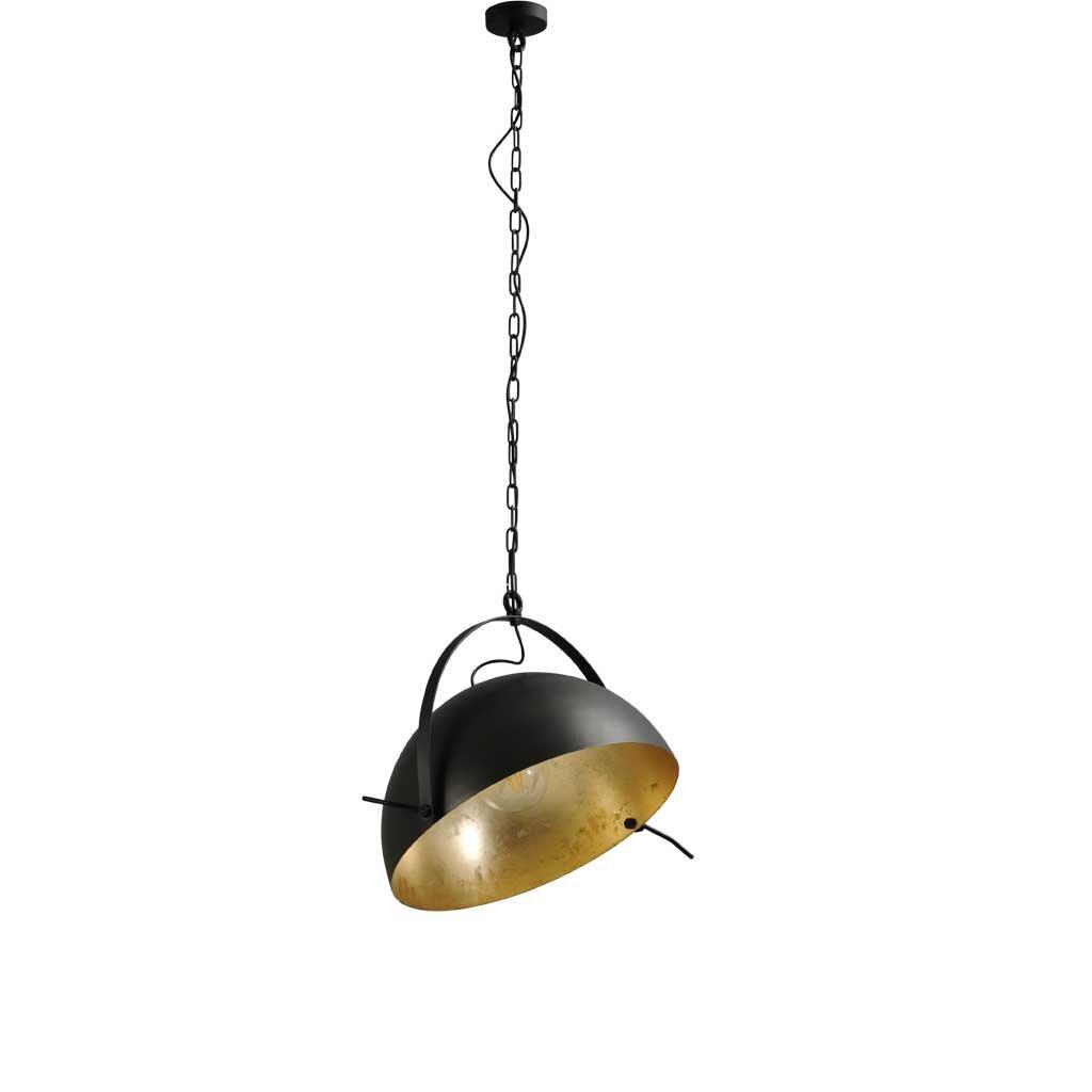 larino h ngelampe schirm gunmetall innen blattgold. Black Bedroom Furniture Sets. Home Design Ideas
