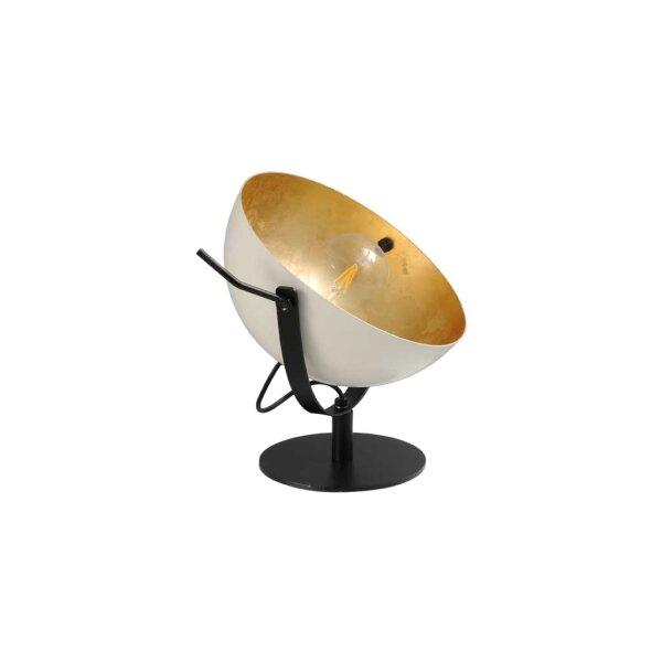 Larino Tischlampe Schirm weiss innen Blattgold