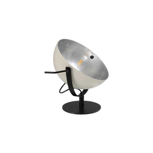 Larino Tischlampe Schirm weiss innen Blattsilber