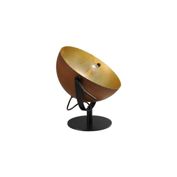 Larino Tischlampe Schirm rost innen Blattgold