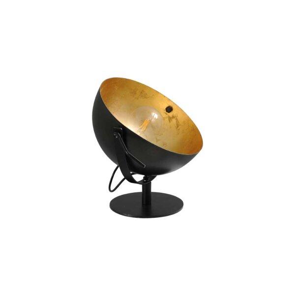 Larino Tischlampe Schirm gunmetall innen Blattgold