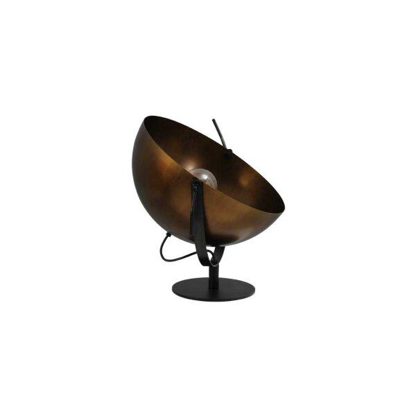 Larino Tischlampe XL Schirm messing antik