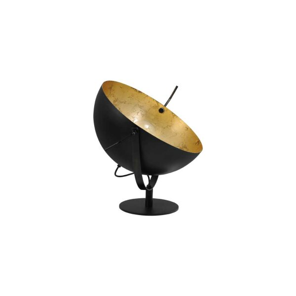 Larino Tischlampe XL Schirm gunmetal innen Blattgold
