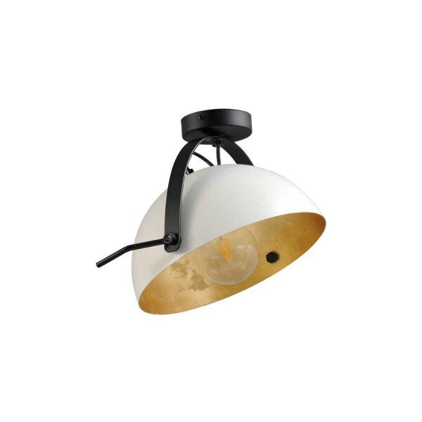 Larino Deckenlampe Schirm weiss innen Blattgold