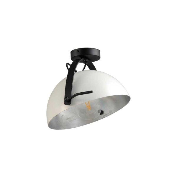 Larino Deckenlampe Schirm weiss innen Blattsilber