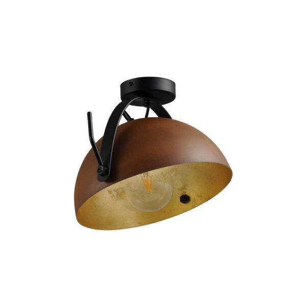 Larino Deckenlampe Schirm rost innen Blattgold