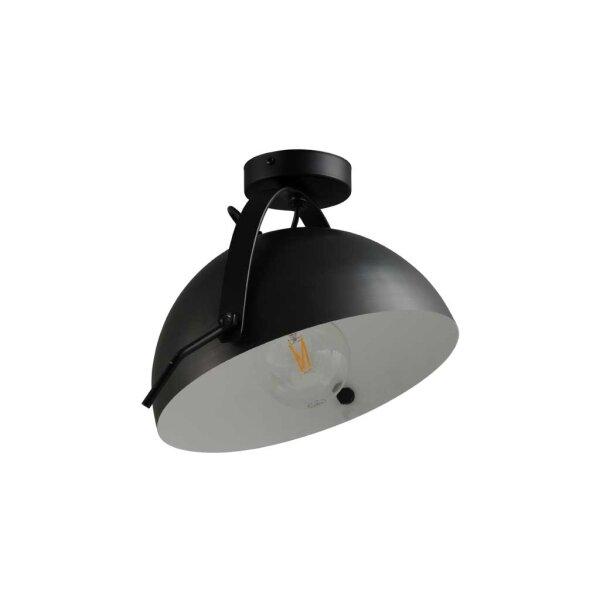 Larino Deckenlampe Schirm gunmetal innen weiss