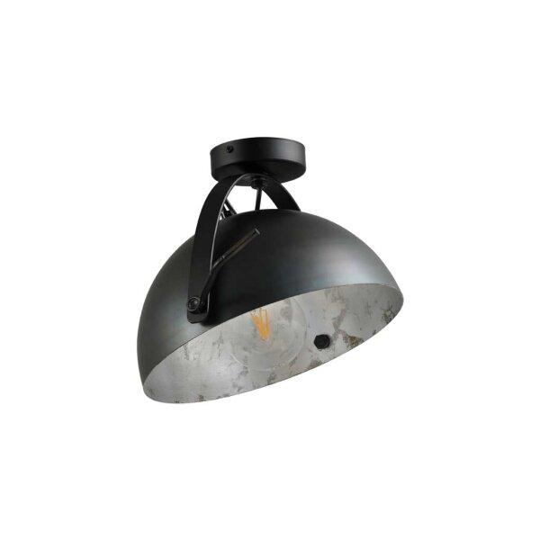 Larino Deckenlampe Schirm gunmetal innen Blattsilber