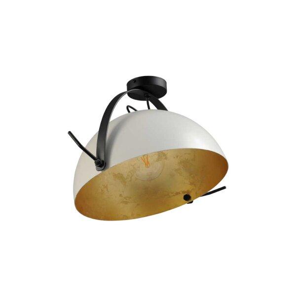 Larino Deckenlampe XL Schirm weiss innen Blattgold