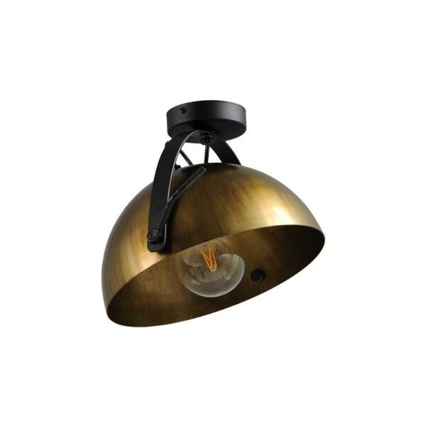 Larino Deckenlampe XL Schirm messing antik