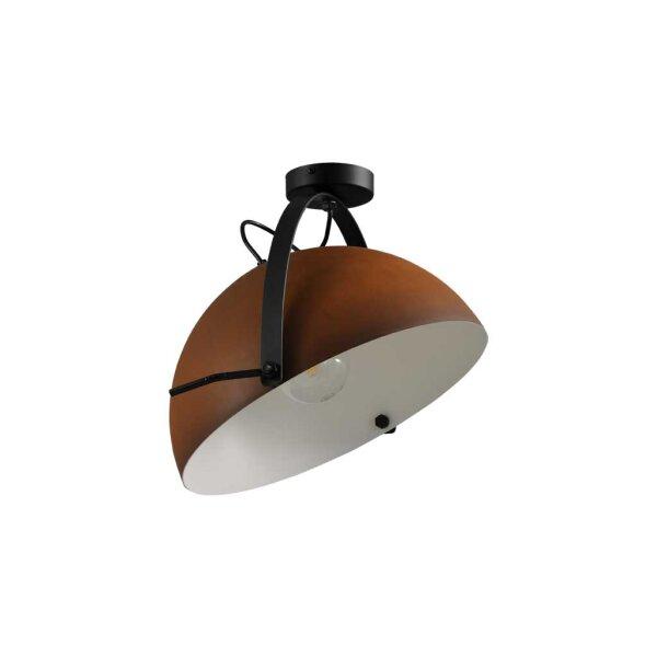Larino Deckenlampe XL Schirm rost innen weiss