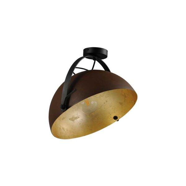 Larino Deckenlampe XL Schirm rost innen Blattgold