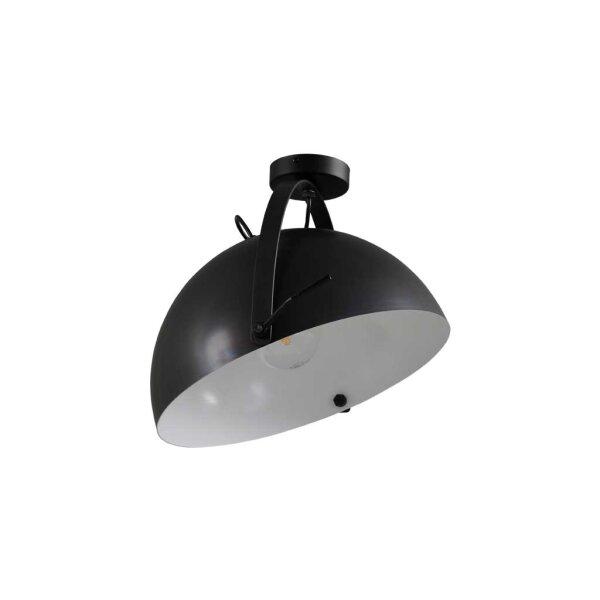 Larino Deckenlampe XL Schirm gunmetal innen weiss