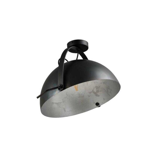 Larino Deckenlampe XL Schirm gunmetal innen Blattsilber