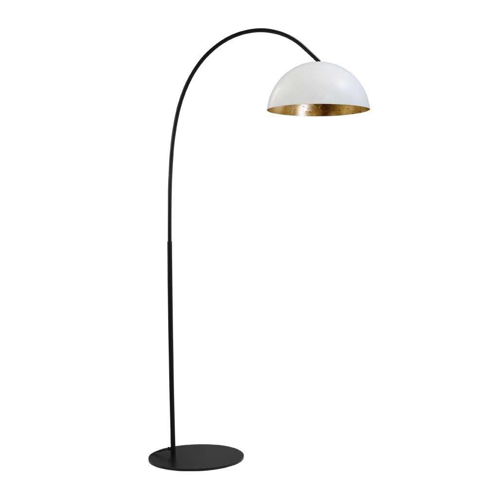 larino stehlampe schirm weiss innen blattgold. Black Bedroom Furniture Sets. Home Design Ideas
