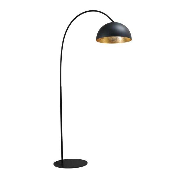 larino stehlampe schirm gunmetal innen blattgold. Black Bedroom Furniture Sets. Home Design Ideas