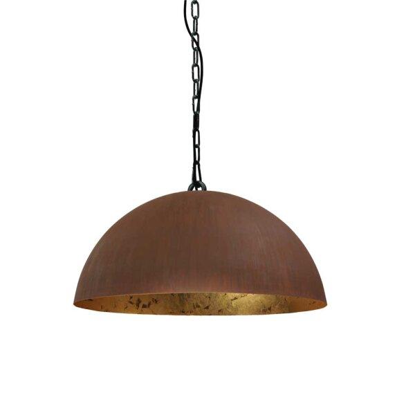 Larino Runde Pendelleuchte Schirm 50 cm rost innen Blattgold