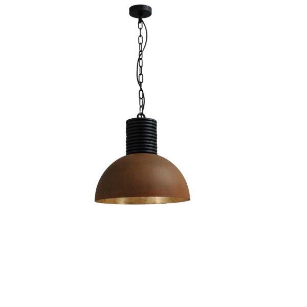Larino Runde Pendelleuchte-R Schirm 40 cm rost innen Blattgold