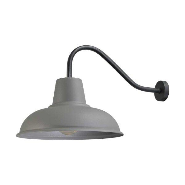 Wandlampe Eddy schwarz/ Betonlook