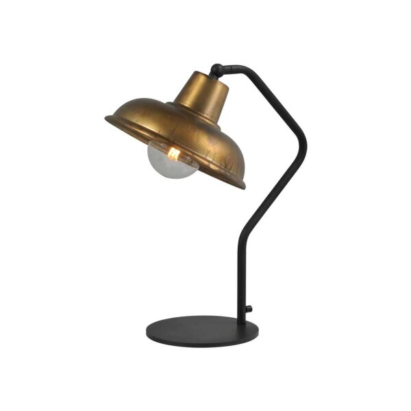 Tischlampe Eddy in Antik Messing