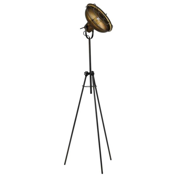 Stehlampe Eddy in Antik Messing & Metallstreben
