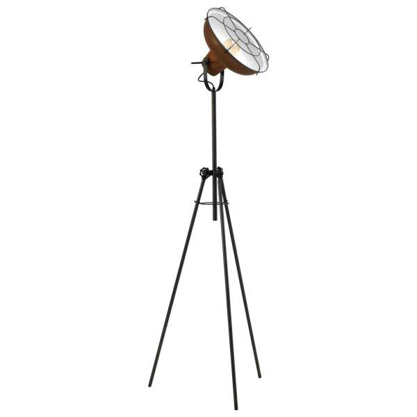 Stehlampe Eddy in Rost & Metallgitter