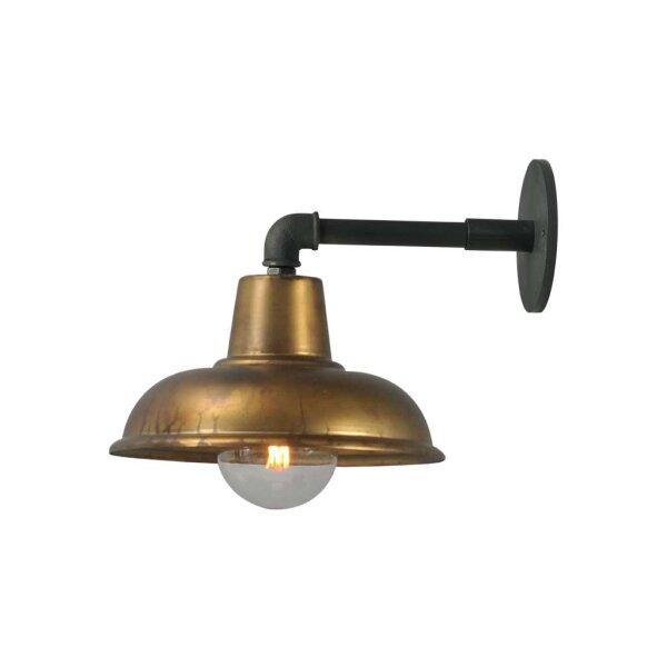 Wandlampe Eddy in Antik Messing